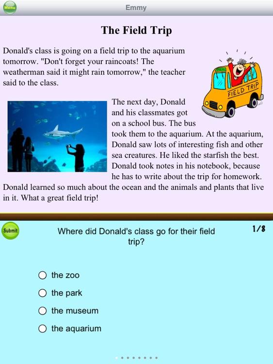 Second Grade Reading Comprehension screenshot-3