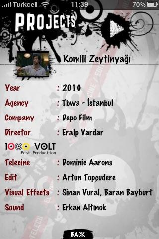 Screenshot of 1000Volt Post Production