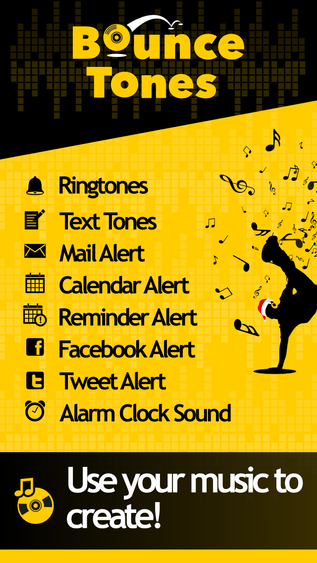 Bounce Tones Free - Personalize your own ringtone tones and