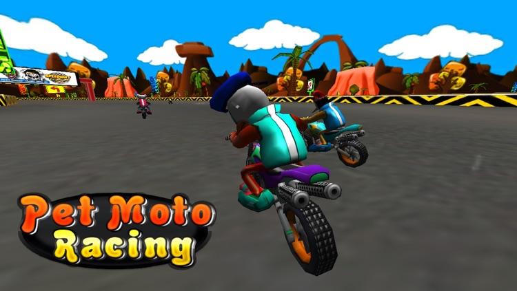 Pet Moto Racing ( 3D bike kids games ) screenshot-3