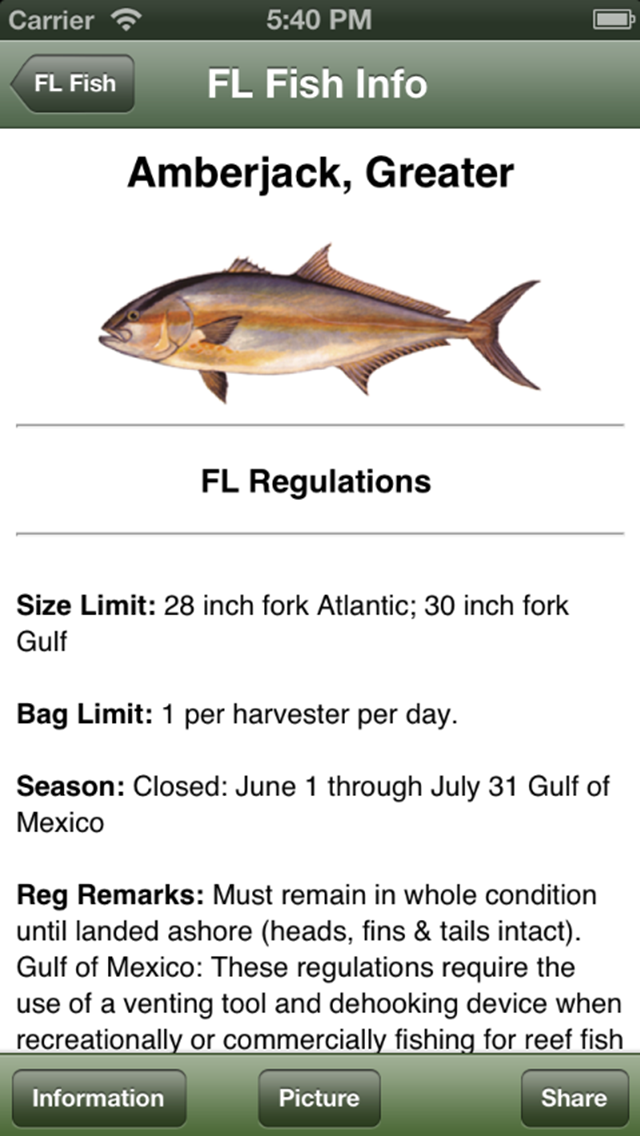 Gulf Saltwater Fishing Companion Screenshot