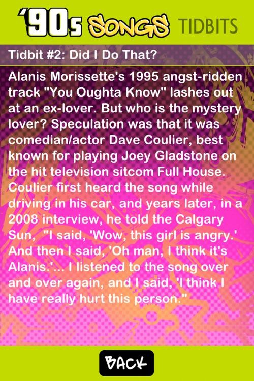 '90s Song Lyrics - Tidbit Trivia screenshot-4