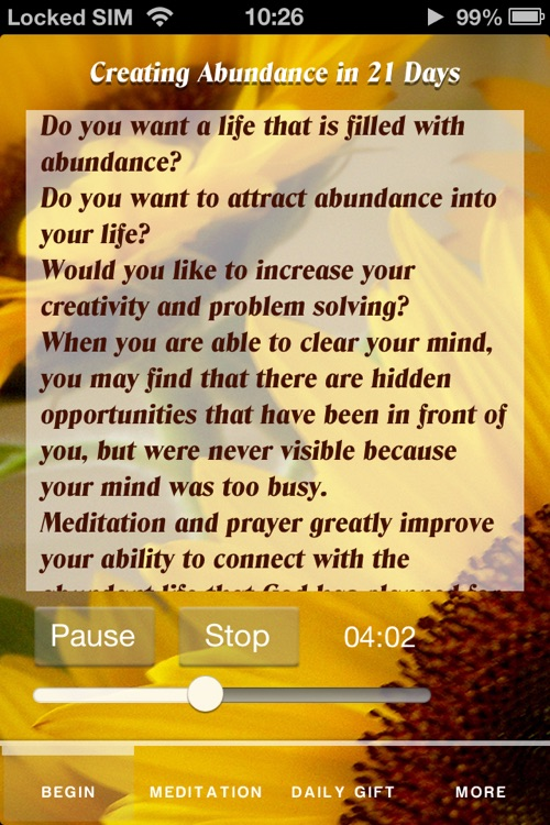 Creating Abundance in 21 days