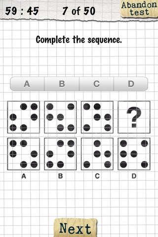 IQ-Test screenshot two