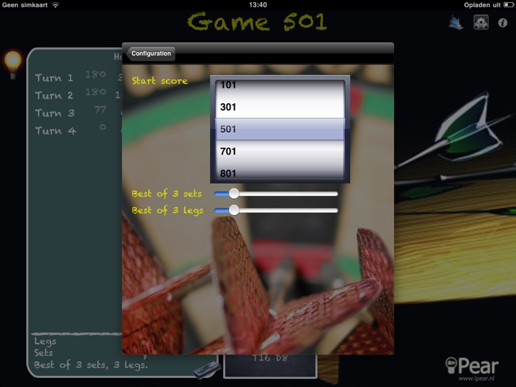 Let's Play Darts Scorekeeper Free HD screenshot-3
