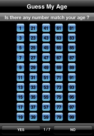 Screenshots of Guess My Age  Math Magic for iPhone