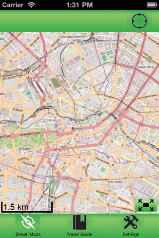 Berlin fline Street Map