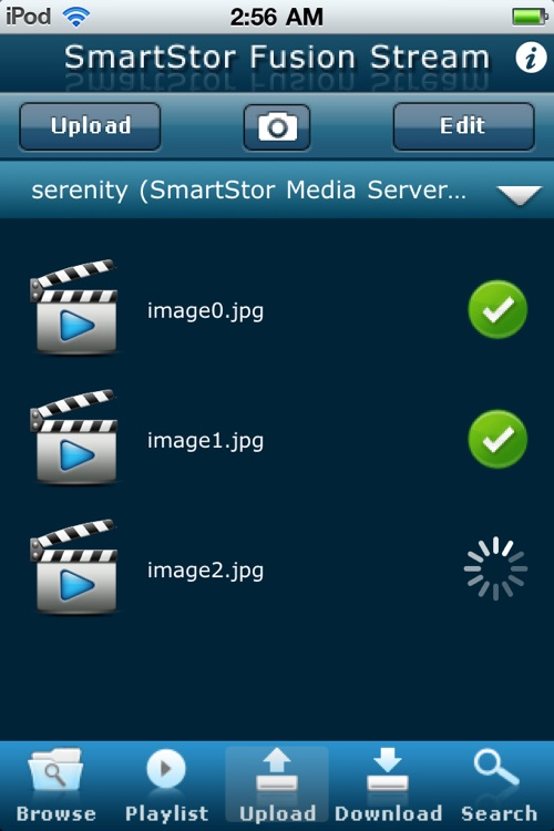 SmartStor Fusion Stream DLNA Digital Media App