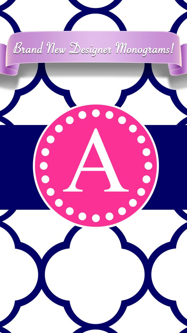 Designer Monogram (Custom Wallpaper) 2 Free by FantAPPstic