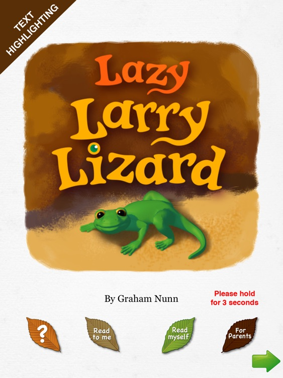 Lazy Larry Lizard bedtime story book for preschoolers - Wasabi Productions
