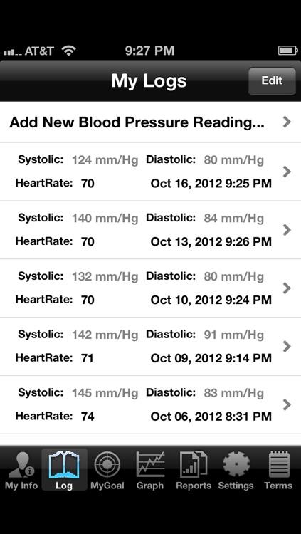Blood Pressure Tracker - Pro Version screenshot-3