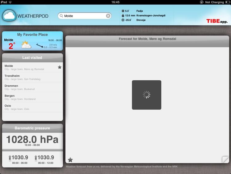 WeatherPod - Værstasjon for iPad screenshot-4