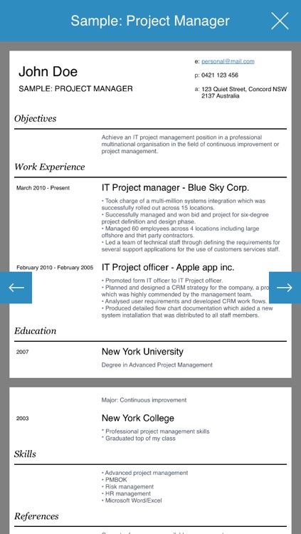 Resume design studio - Professional and stylish resumes designer screenshot-3