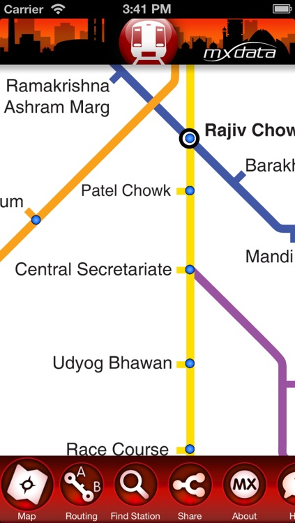 Delhi Metro - Map and Route Planner screenshot-4