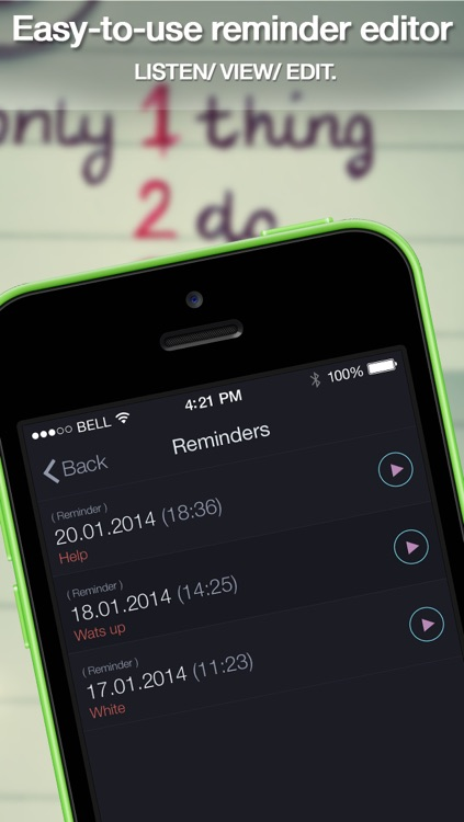 Voice Remindеrs Free - Dictate notes, create your calendar notifications, memos, custom alerts screenshot-3