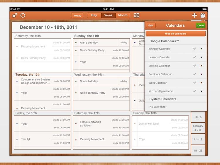 GoCal for Google Calendar™ HD screenshot-3