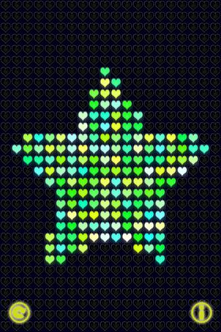 Glow Neon Heart Lights Lite Скриншоты7