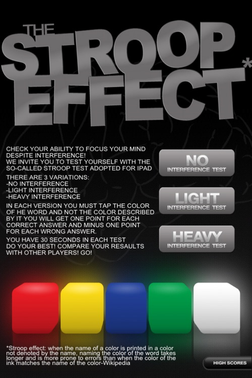 The Stroop Effect screenshot-0