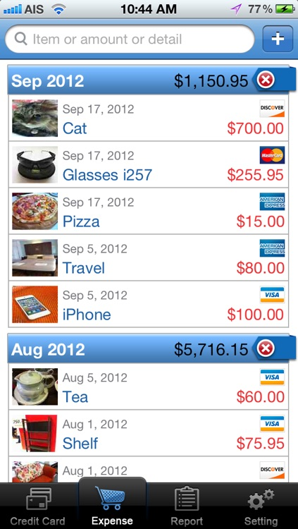 CreditCard Expense screenshot-1