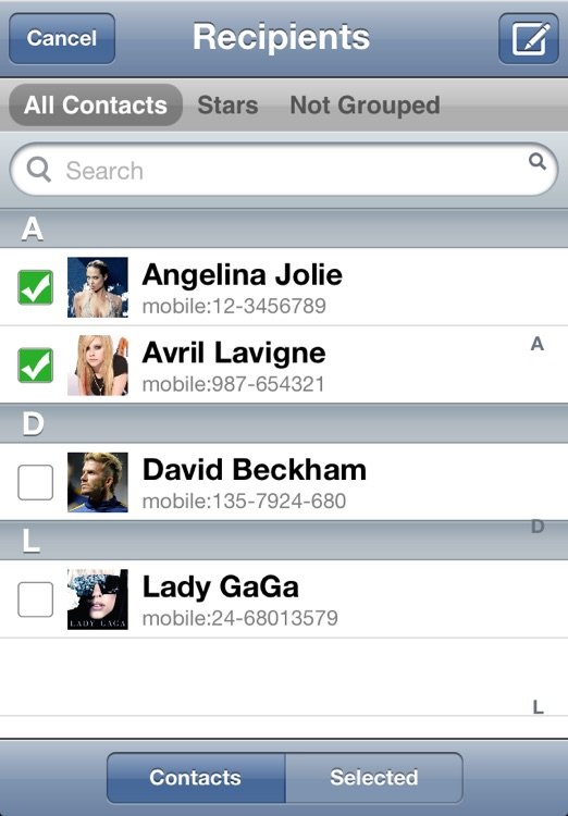 Independent Contacts Free screenshot-4