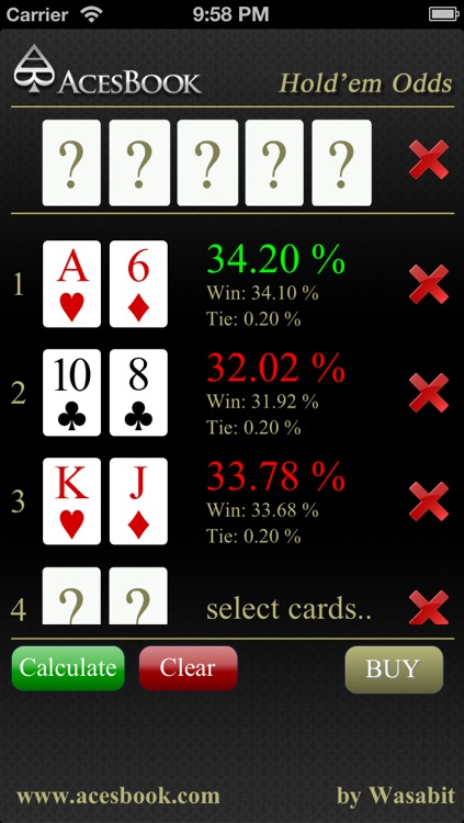 Hold'em Odds Lite screenshot-3