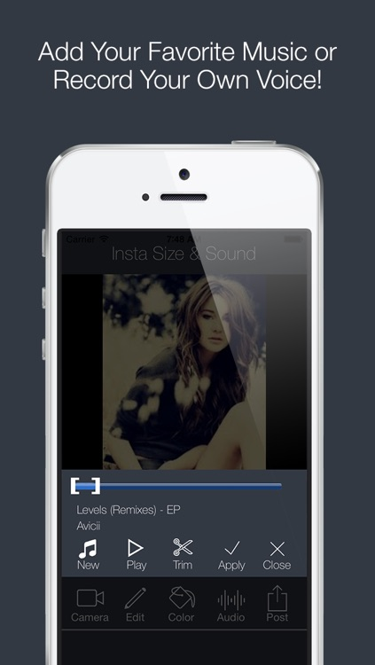 Insta ² with Music Video for Instagram - InstaSize , InstaFit and SquareSized Full Size Squaready without Cropping Camera to Post Movie & Picture Color Background with Awesome Aviary Photo Frame Editor Free