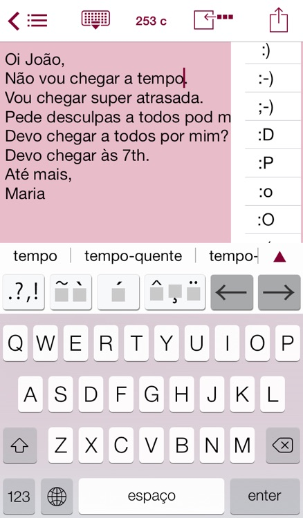 Easy Mailer Portuguese Keyboard plus