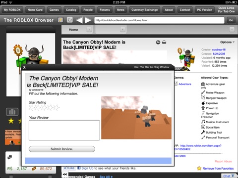 The Browser for ROBLOX для iPad