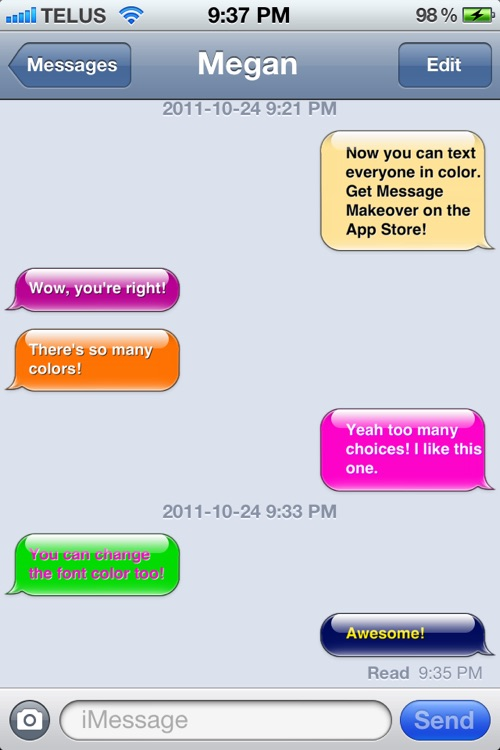 Message Makeover - Colorful Text Message Bubbles screenshot-3