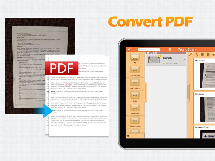 WorldScan HD - Scan Documents & Share PDF screenshot-0