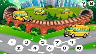 市の自動車について子供の年齢2-5のための123のゲーム: カウントを学ぶ 数字カー、レースカー、バス、トラック、飛行機、通りに1月10日。幼稚園、保育園や保育所のためにのスクリーンショット3