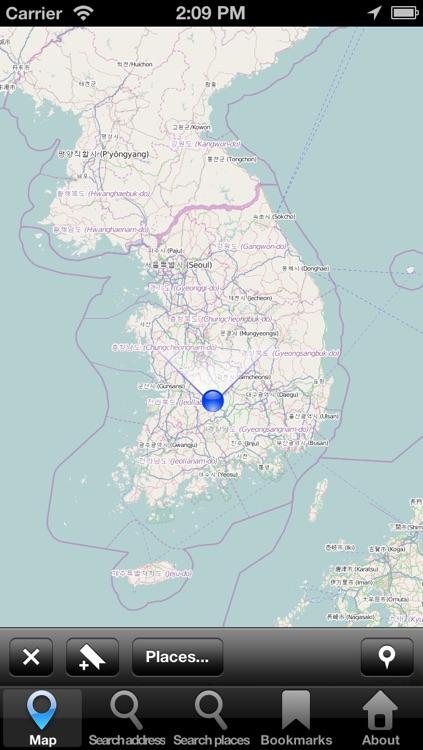 Offline Map South Korea: City Navigator Maps