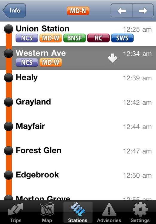 iTrans Chicago Metra screenshot-4