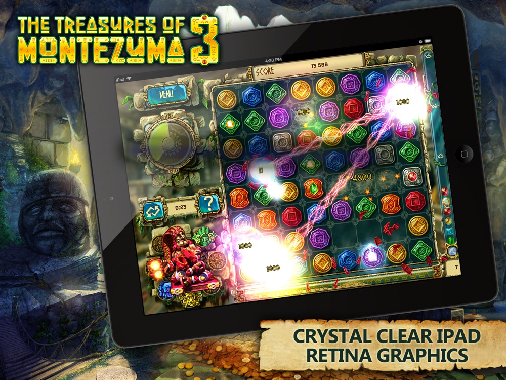 The Treasures of Montezuma 3 HD Free Cheat Codes