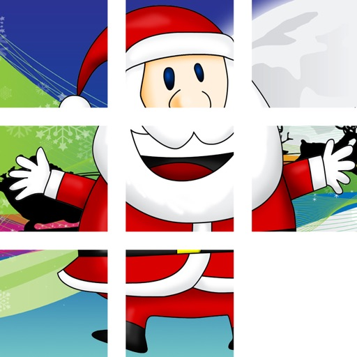 Christmas Puzzle Family Game - Fun to play in group with kids and adults: xmas theme picture tile puzzel icon