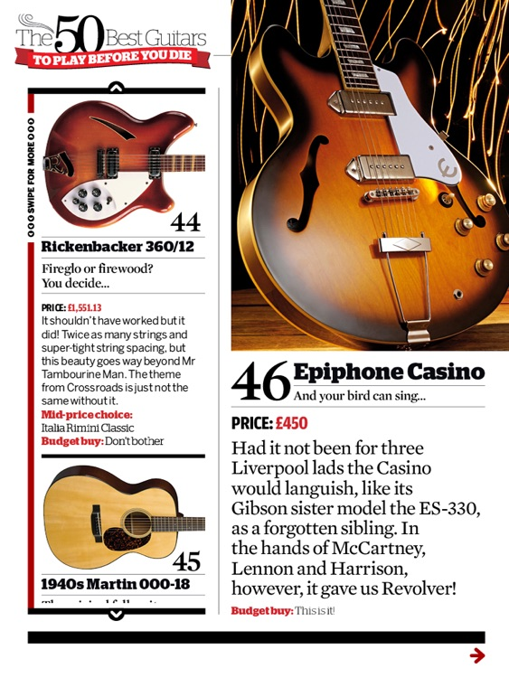 The 50 Best Guitars To Play Before You Die by Guitarist