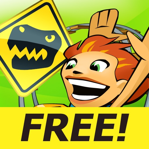 Jurassic 3D Rollercoaster Rush FREE icon