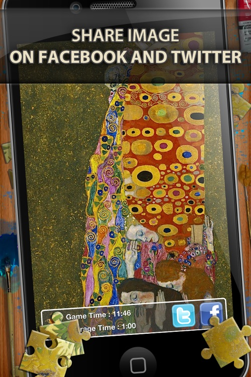 Gustav Klimt Jigsaw Puzzles - Play with Paintings. Prominent Masterpieces to recognize and put together screenshot-3