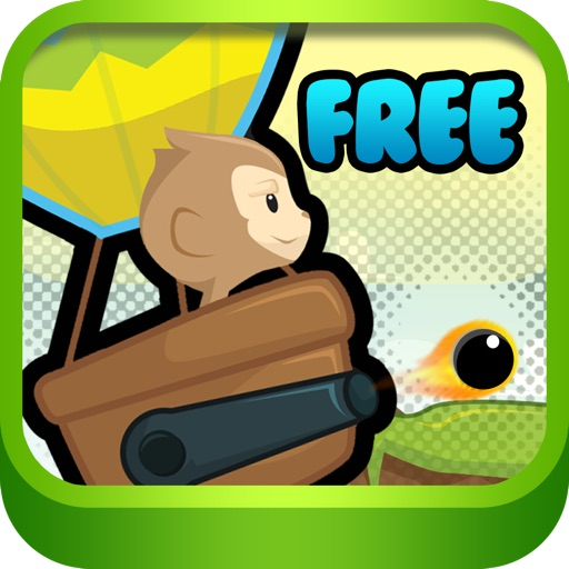 Hot Air Baloon Monkey Star Free - little pet animals Fun Flying & Shooting iOS App