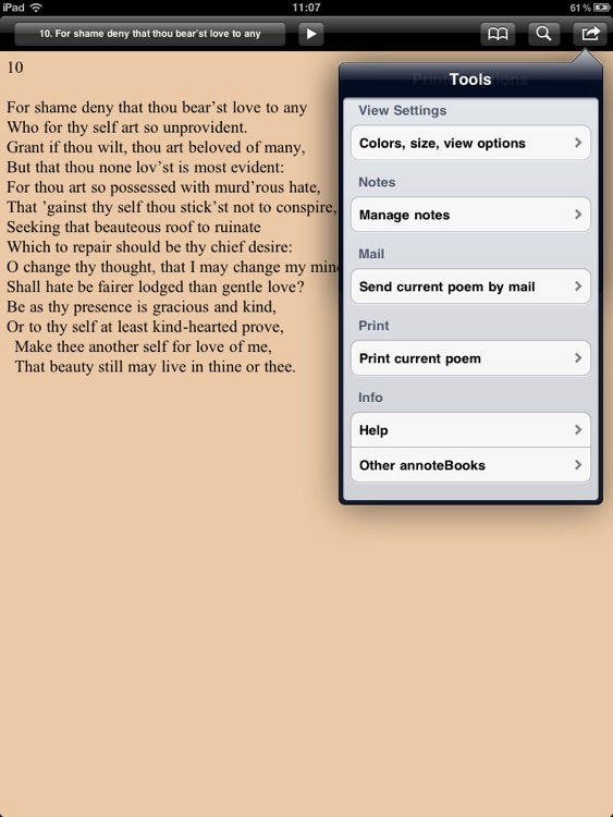 Shakespeare: Sonnets for iPad screenshot-4