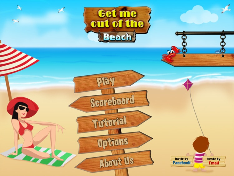 Get me out of the beach HD FREE , the hot summer traffic and puzzle game screenshot-1