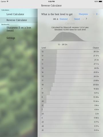 Enchantment Calculator for Minecraft by Joseph Stevens (iOS, United