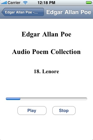 Edgar Allan Poe - Audio Poem Collection screenshot-3