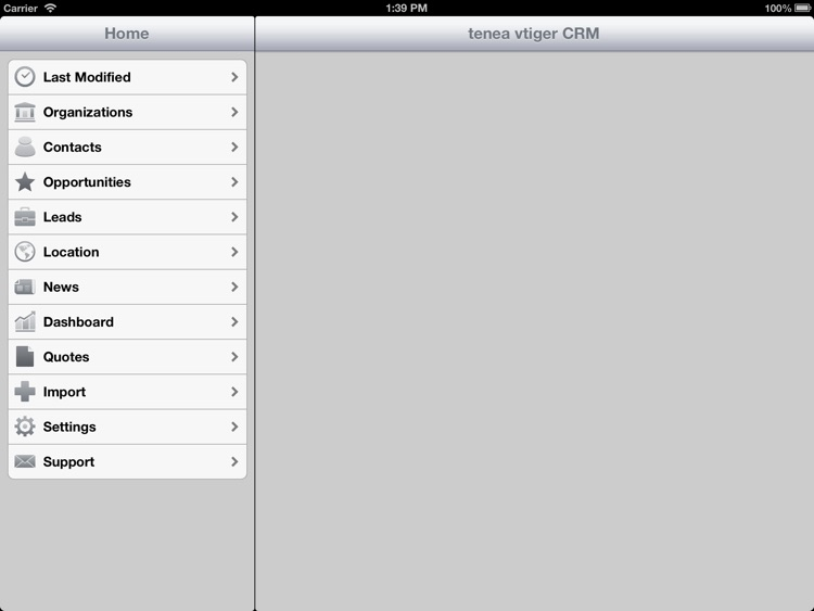 Tenea app for Vtiger CRM (iPad edition) screenshot-3