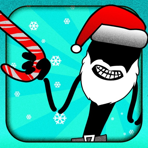A Stickman Santa Stampede Christmas Reindeer Run Free Games for the Holidays!