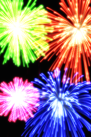 Real Fireworks Artwork Visualizer Free for iPhone and iPod Touch screenshot one