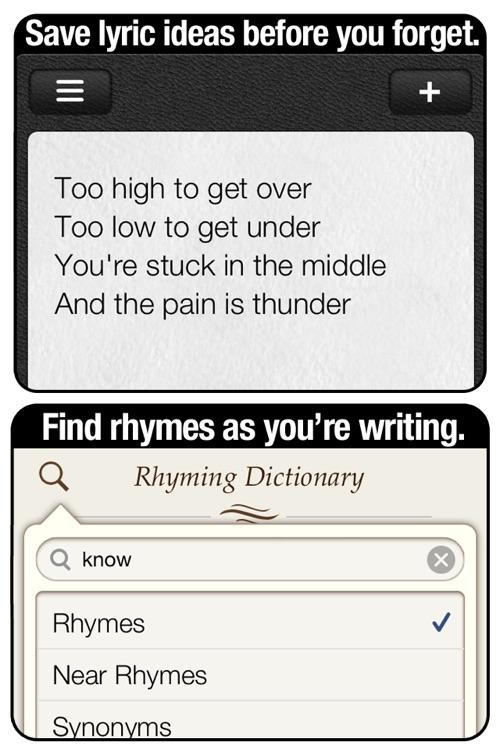 Verses notebook + rhyming dictionary   rhymebook   book of rhymes