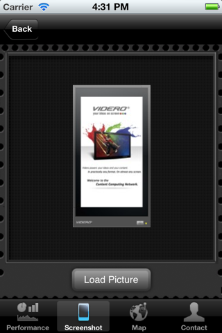 Screenshot of VIDERO Server for iPhone