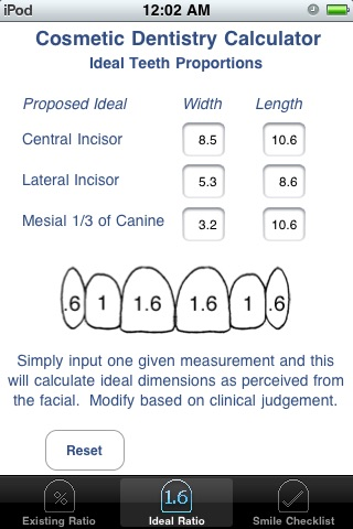 Cosmetic Dentistry Calculator screenshot-3