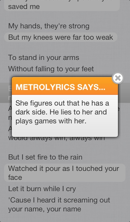 MetroLyrics screenshot-3